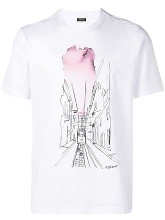 Ermenegildo Zegna tram print T-shirt - White