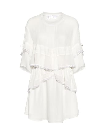 Iro Cecile Ruffle Mini Dress White