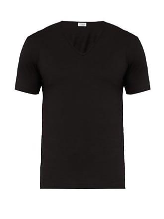 Zimmerli Pure Comfort Stretch Cotton T Shirt - Mens - Black