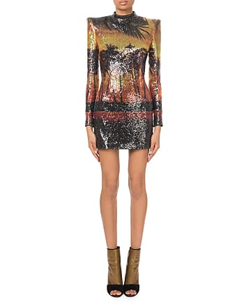 cba0ed54 Sleeveless Sequined-Tweed Chain-Strap Mini Dress. Delivery: free. Balmain  Long-Sleeve Sequined Palm-Print Mini Dress
