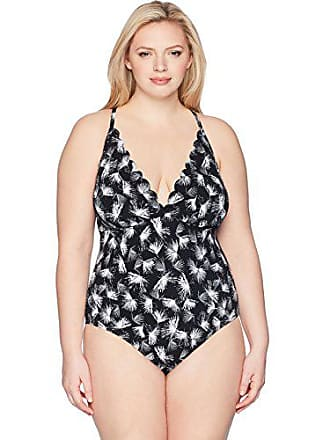 4ee55f71181ce La Blanca Womens Plus Size Cross Back Halter One Piece Swimsuit