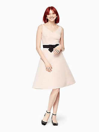 Kate Spade New York Bow Fit And Flare Dress, Cameo Pink - Size 10