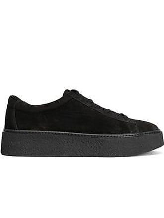 Vince Vince. Woman Neela Suede Platform Sneakers Black Size 7.5