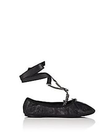 6da0253d0bf Valentino Womens Leather Ankle-Strap Flats - Black Size 9.5