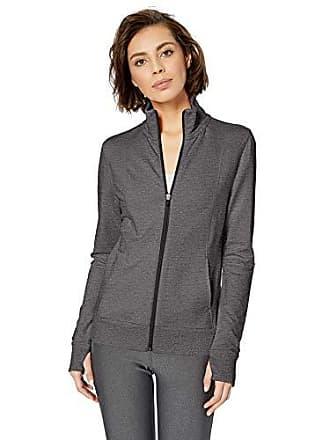 Amazon Essentials Womens Studio Terry Long-Sleeve Full-Zip Jacket, Charcoal Heather, M