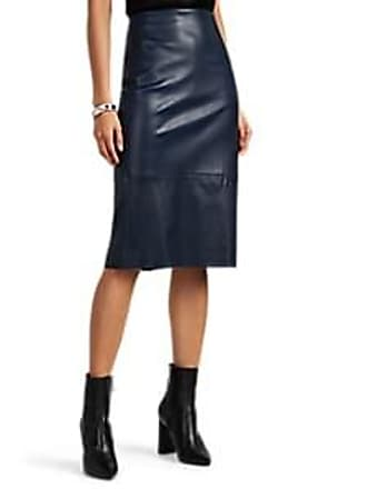 06f8073a87a The Row Womens Jaston Leather Pencil Skirt - Navy Size 0