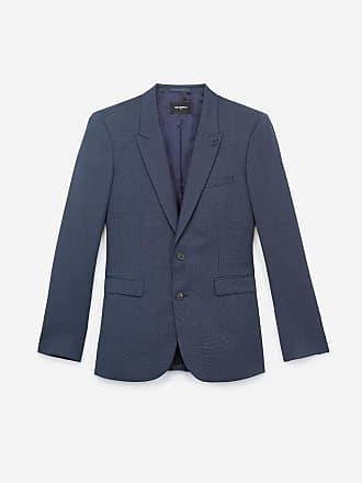 The Kooples Veste de costume slim bleu clair à micro carreaux 7ba039a11a1