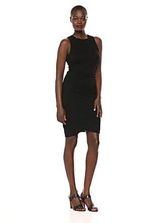 a7f70d0e6064 Three Dots Womens VJ5890 ECO Knit Double Layer Dress, Black Medium
