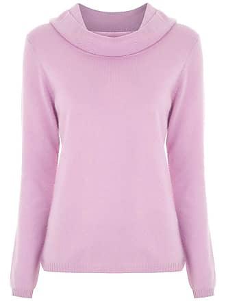 9668033bd3 Fillity Blusa de tricô gola ampla - Rosa
