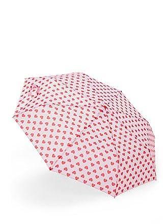 Forever 21 Forever 21 Heart Print Umbrella Pink/red