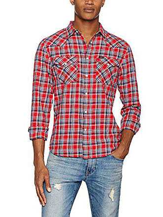 fae8512d97949 Lee Western Shirt, Chemise Casual Homme, Multicolore (Vibrant Red SK), 37