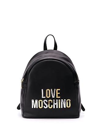 Love Moschino laminated logo backpack - Black