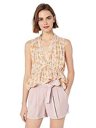 Lucky Brand Womens Sleeveless Romantic Ruffle TOP, Pink Multi, XS