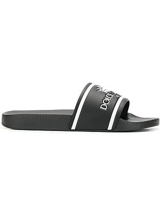 fbd0e370c14dd0 Dolce   Gabbana black and white crown logo embossed slides
