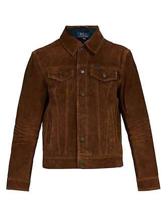 Polo Ralph Lauren Flannel Lined Suede Jacket - Mens - Brown 3024ad7032