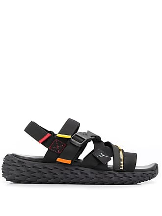 Giuseppe Zanotti cross-strap zip detail sandals - Black