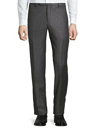 Zanella Mens Parker District Check Flat-Front Trousers