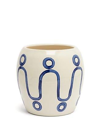 Themis.Z Themis Z - Cycladic Ceramic Pottery Vase - Blue White