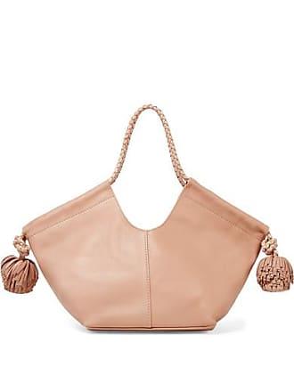 Ulla Johnson Lali Mini Pompom-embellished Leather Tote - Blush