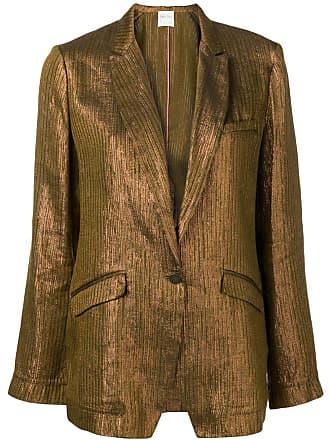 Forte_Forte metallic single-breasted blazer