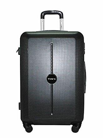 Yin's Mala de Viagem Médio ABS com Rodinhas Preta Yins YS2040P-M