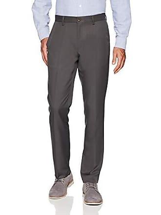 Amazon Essentials Mens Slim-Fit Flat-Front Dress Pants, Dark Grey, 30W x 30L