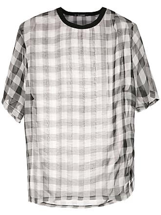 À La Garçonne Camiseta chiffon oversized - Preto