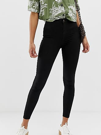New Look high rise stretch skinny jeans in black - Black