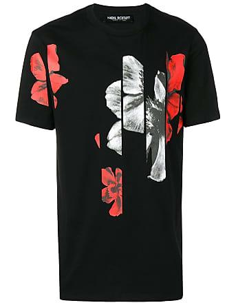 Neil Barrett Camiseta com estampa floral gráfica - Preto