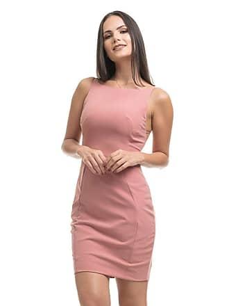 Clara Arruda Vestido Clara Arruda Curto Costa Tule 50447 - P - Rose