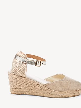 Soludos Womens Closed Toe Midwedges Espadrille Wedges Platinum Size 10 Woven From Sole Society