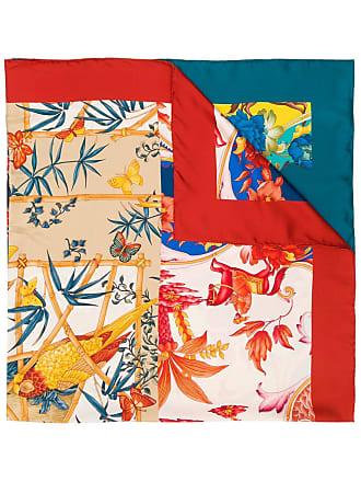 Salvatore Ferragamo printed scarf - Azul