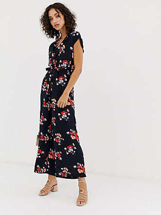 Vero Moda floral wrap jumpsuit - Navy