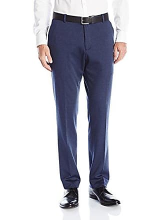 Perry Ellis Mens Slim Fit Stretch Knit Pant, Navy, 34Wx32L