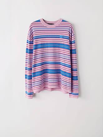 Acne Studios FA-UX-KNIT000006 Blush pink/pink/aqua Striped sweater