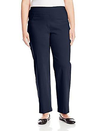 Ruby Rd. Womens Plus-Size Plus Pull-On Solar Millennium Super Stretch Pant, Navy, 18W