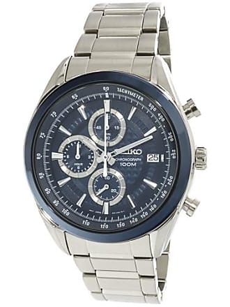 Seiko Mens Chronograph SSB177 Silver Stainless-Steel Japanese Fashion Watch