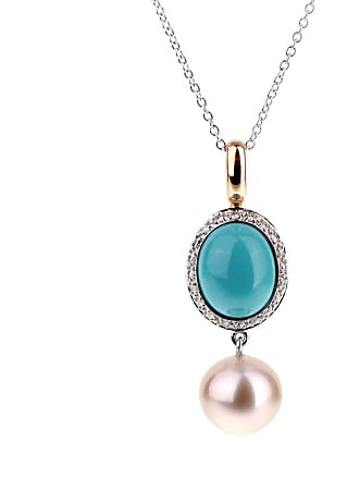 MIMI MILANO Turquoise Pearl Diamond Necklace