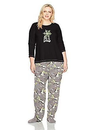 682cbfafc9 Hue Womens Printed Knit Tee and Pant 3 Piece Pajama Set