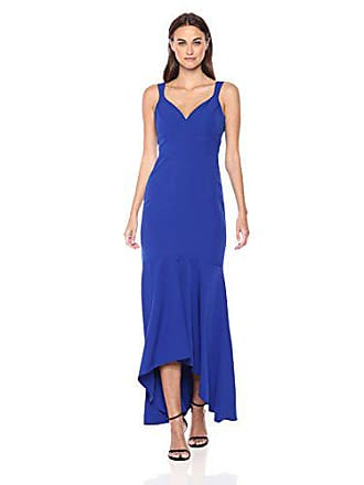 Nicole Miller Womens Sweetheart Neckline High-Low Stretch Mermaid Gown, Cobalt 6