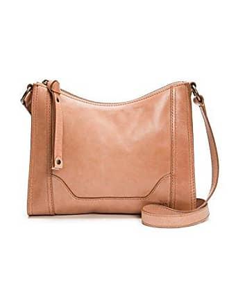 Frye Melissa Zip Leather Crossbody Bag, Dusty Rose