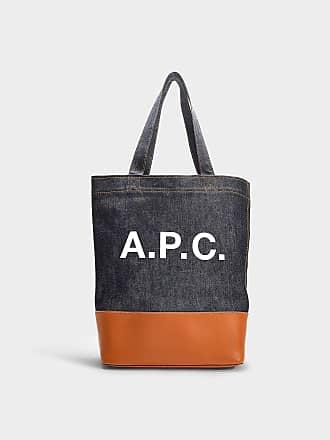 A.P.C. Sac à Main Axelle en Feutre et Cuir Caramel 7155280ff479