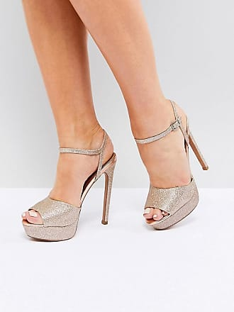 05b1daa0d3a Asos ASOS HOTEL Platform Heeled Sandals - Gold. -50%. In high demand