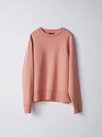 Acne Studios Fairview Face Pale Pink Regular fit sweatshirt