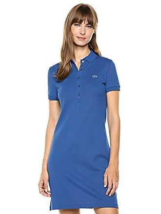 Lacoste Womens Classic Short Sleeve Slim FIT Stretch Pique Polo, Captain, 2