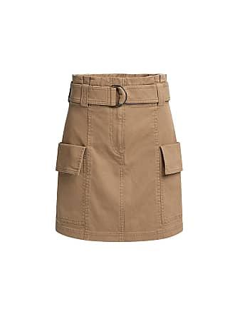 A.L.C. Mia Belted Mini Skirt Beige
