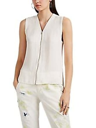1e3faaf1086a6 Rag   Bone Womens Valarie Zip-Front Sleeveless Top - White Size XXS