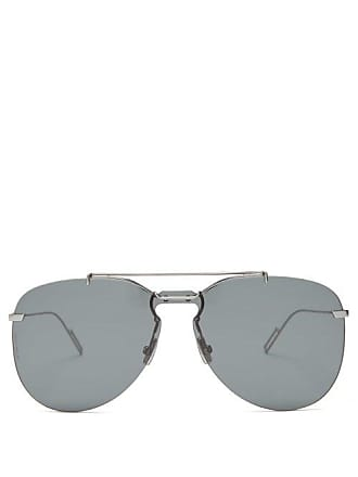 4ecb84a896f3d Lunettes Dior Aviator Metal Sunglasses - Mens - Black