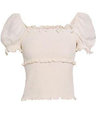 470ea1eb6c810 Cinq à Sept Cinq À Sept Woman Ellis Ruffle-trimmed Shirred Silk Crepe De  Chine