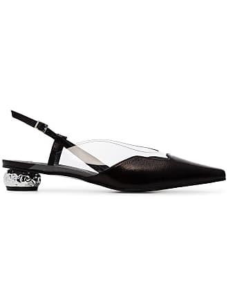 Yuul Yie black Dewy 30 leather slingback pumps